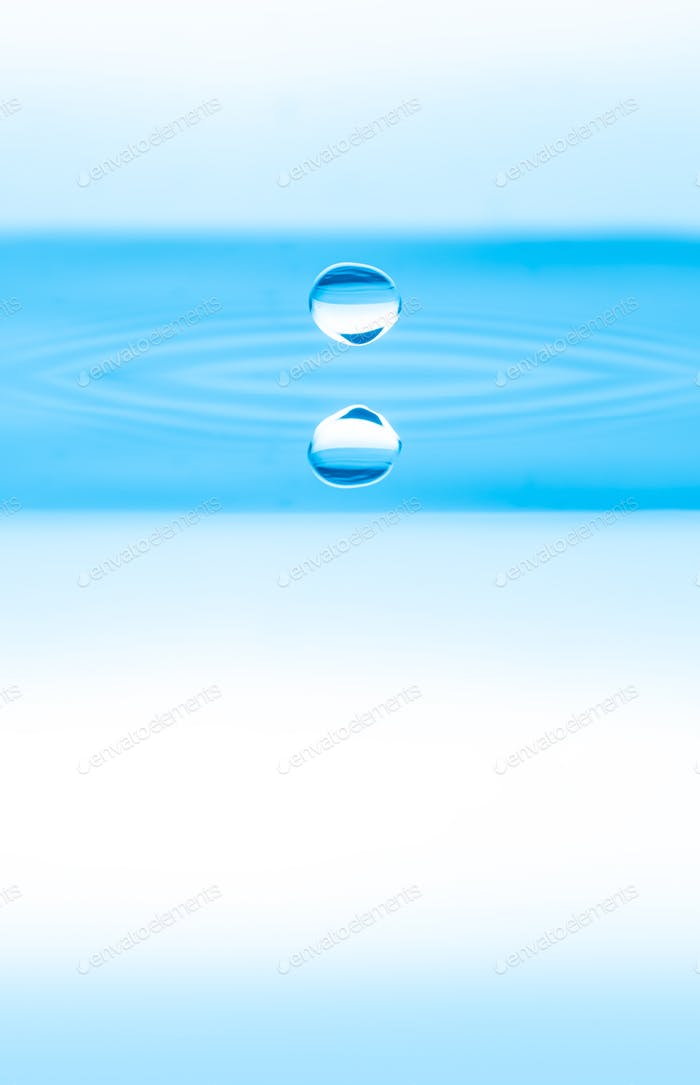water drops splash
