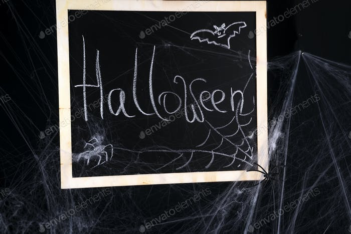 Chalkboard on a black background