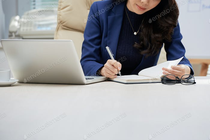 White Collar Worker Taking Notes