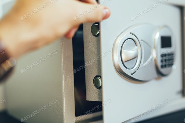 Opening of a safe
