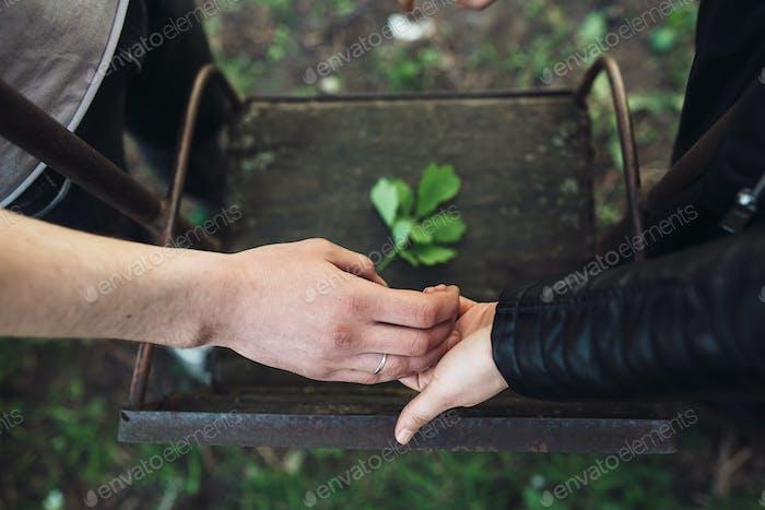 couple near the swing