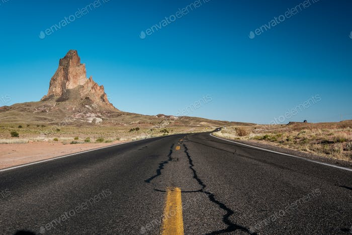 Empty scenic highway in Arizona