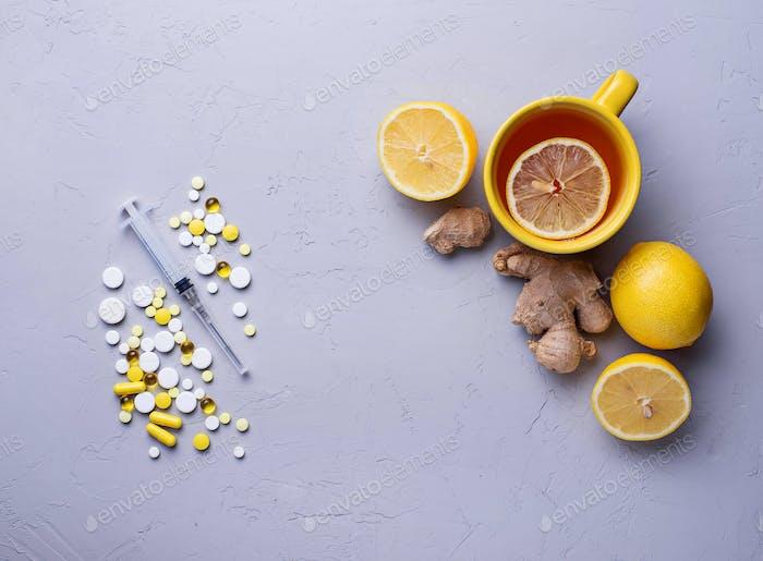 Traditionelle Medikamente und alternative natürliche Heilmittel