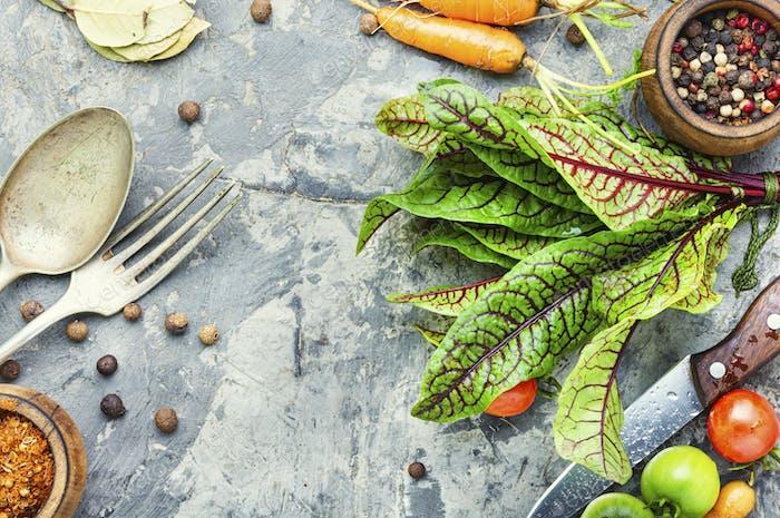 Fresh vegetables for salad