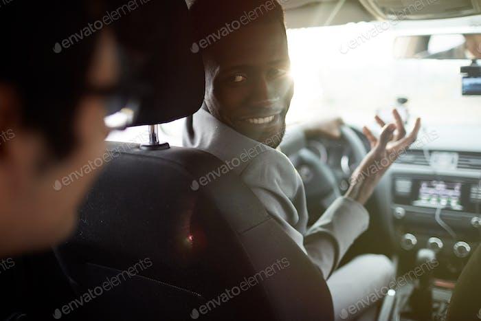 Fahrer des Autos