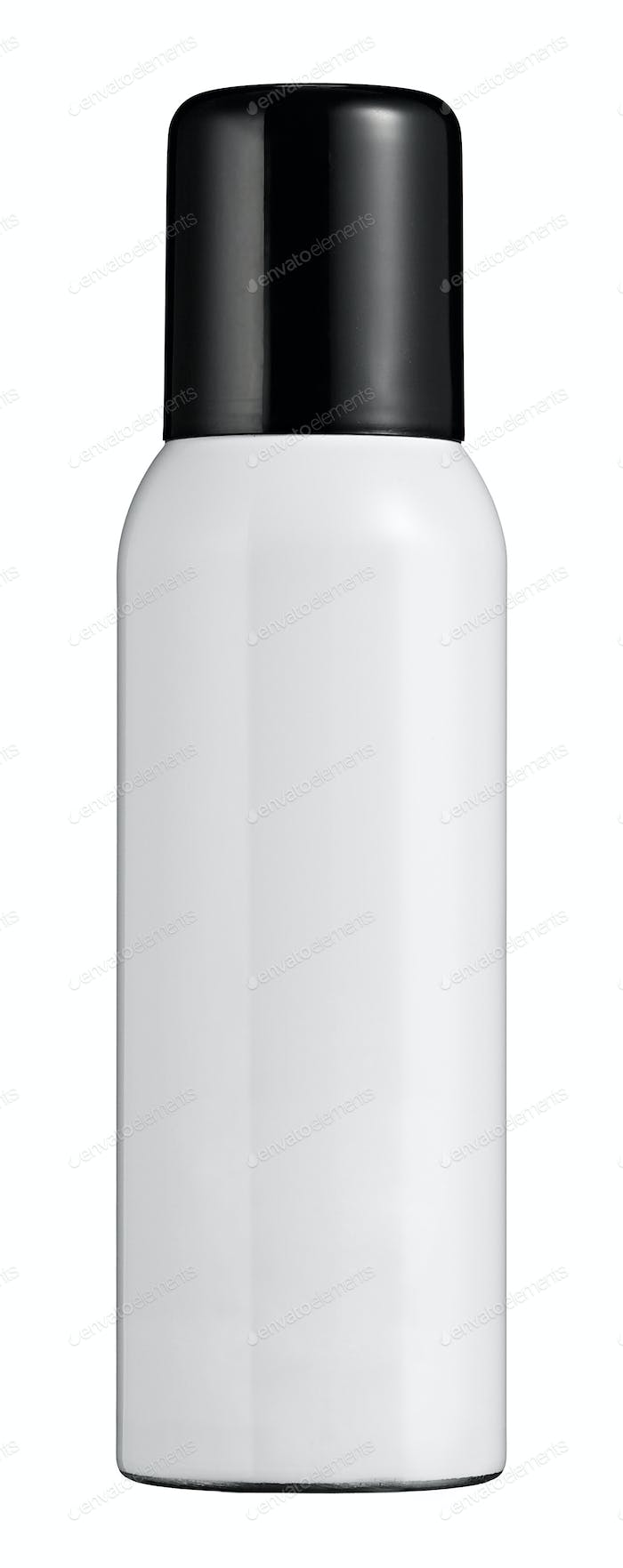 Single white lotion or makeup bottle