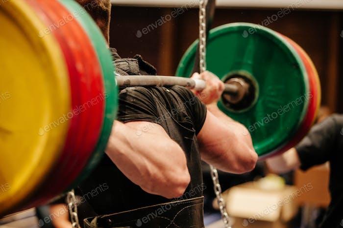 Powerlifter Ansatz Übung Kniebeuge