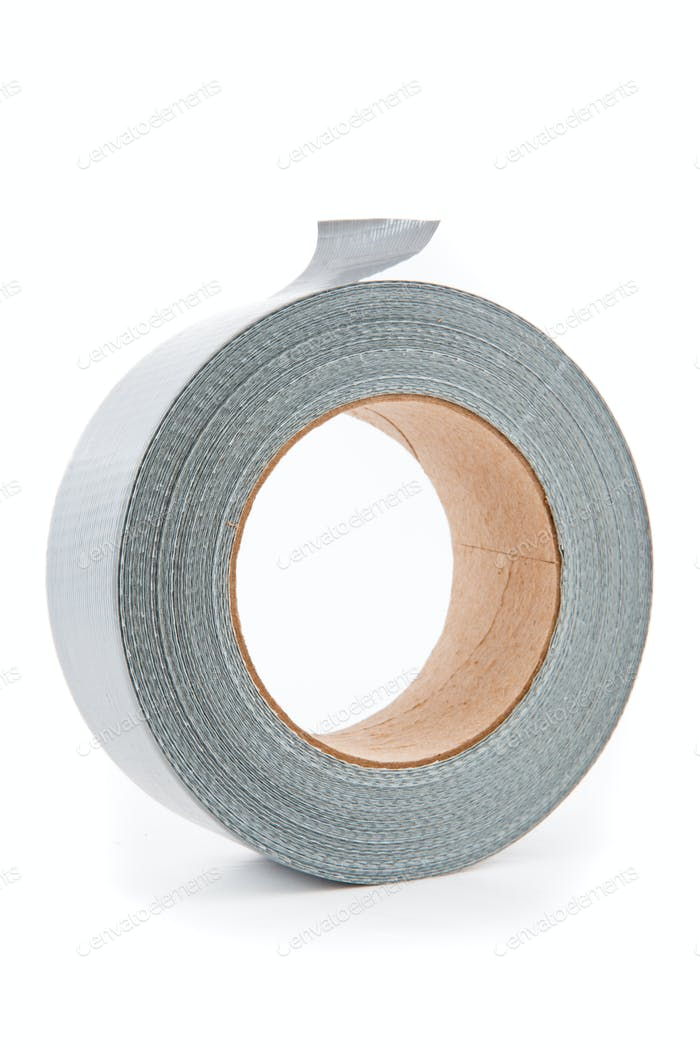 Roll of silver duct tape