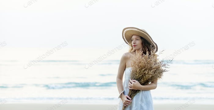 Beach Summer Holiday Vacation Traveling Relaxation Concept