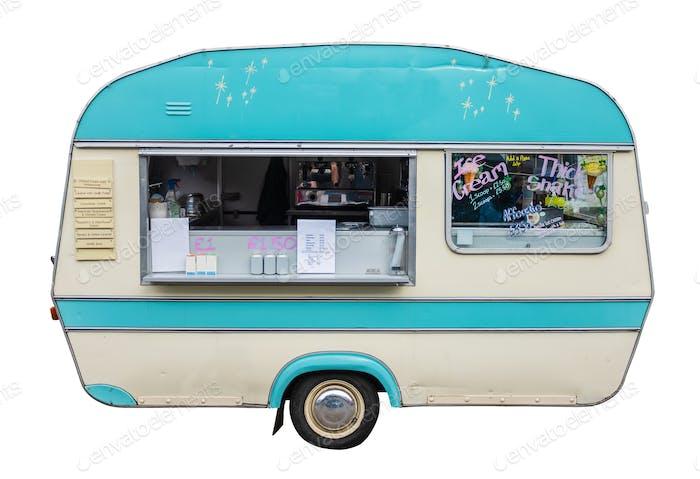 Retro Vintage Food Truck oder Wohnwagen