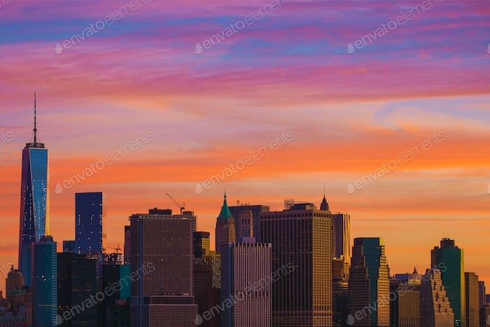 New York Sonnenuntergang Landschaft