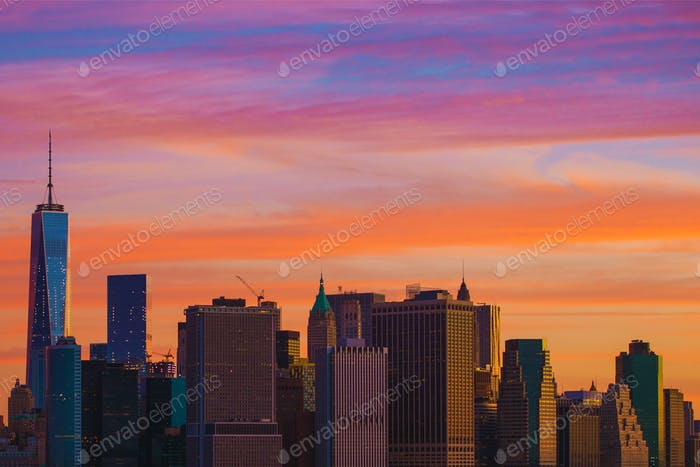 New York Sunset Scenery