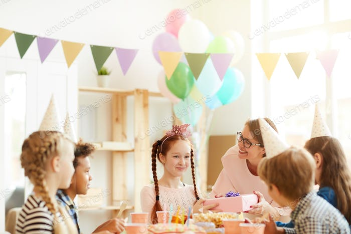 Red Haired Girl at Birthday Party