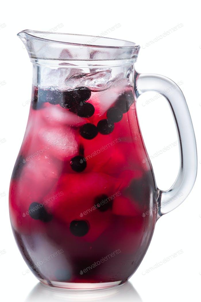 Chokeberry aronia iced drink jug, paths