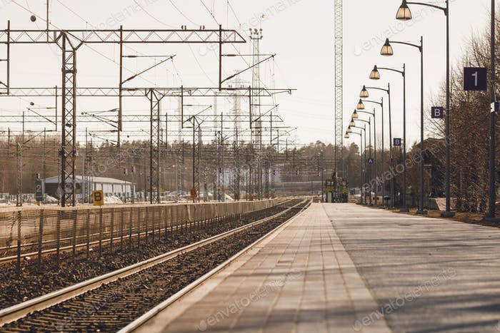 View of a railway station in Lappeenranta, Finland.