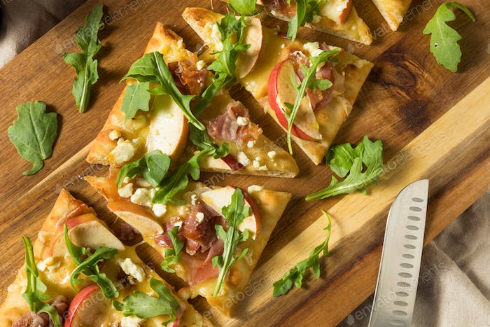 Apple Prosciutto Flatbread Pizza Appetizer