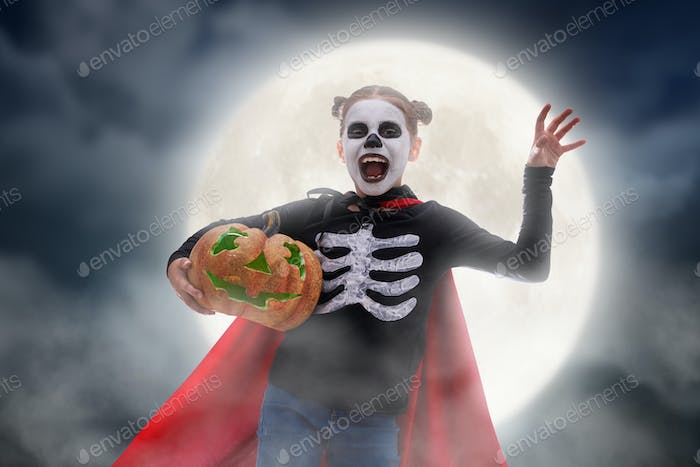 child on Halloween