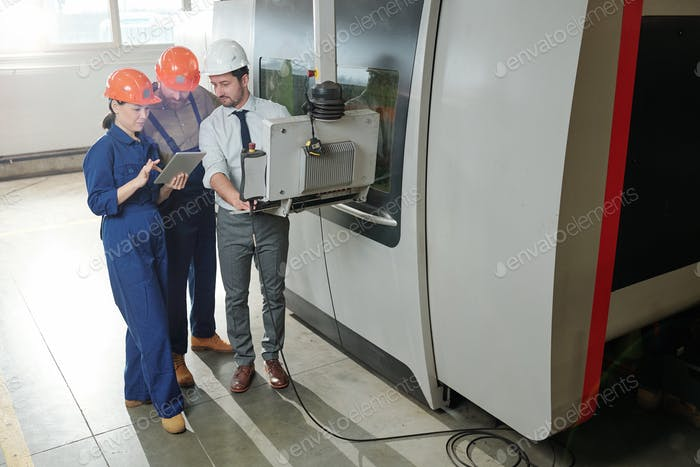 Working with modern CNC machine