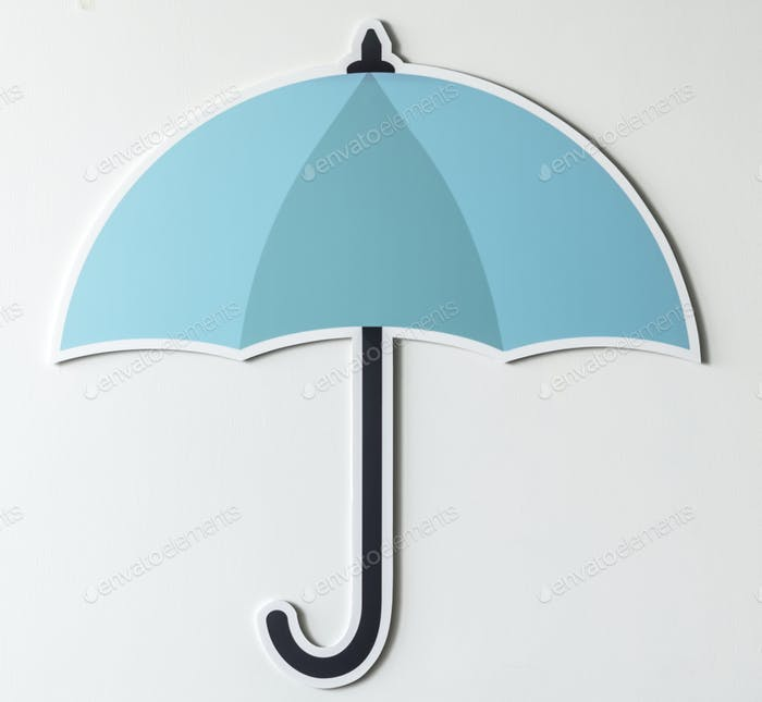 Protection umbrella securuty symbol icon