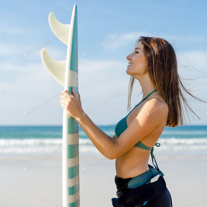 Me, the beach and my surfboard