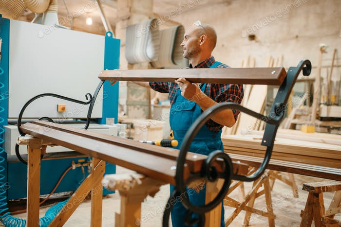Tischler, Holzbank Herstellung, Tischlerarbeiten