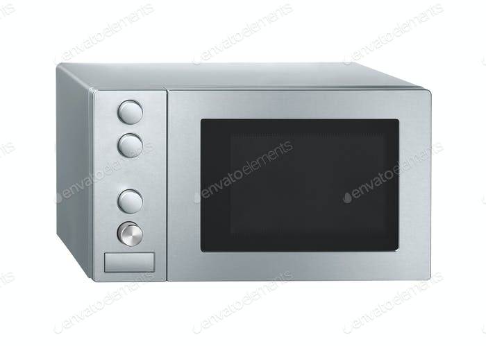 Microwave isolated on white
