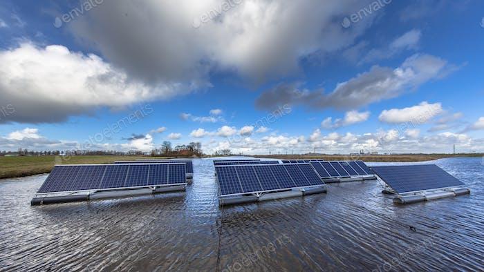 Floating solar units