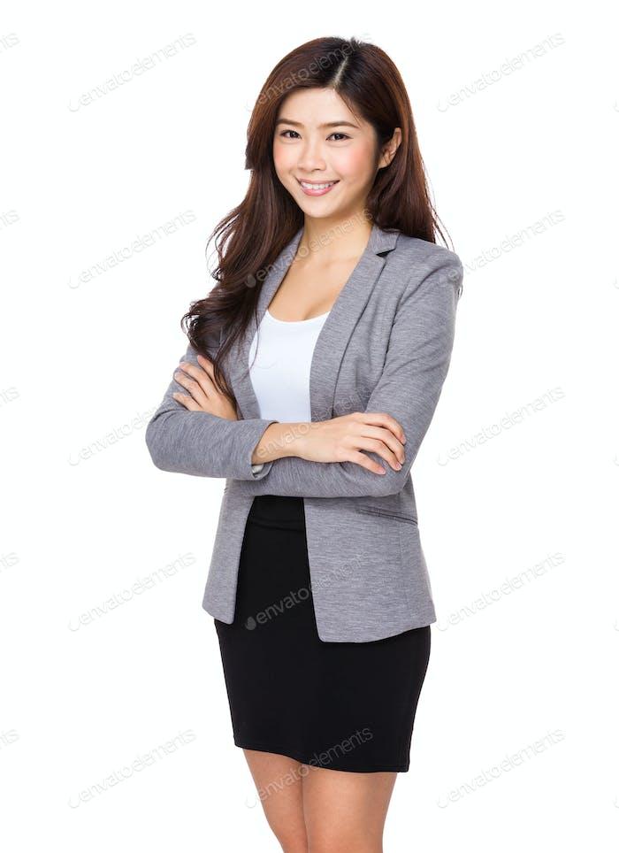 Business woman confident smile