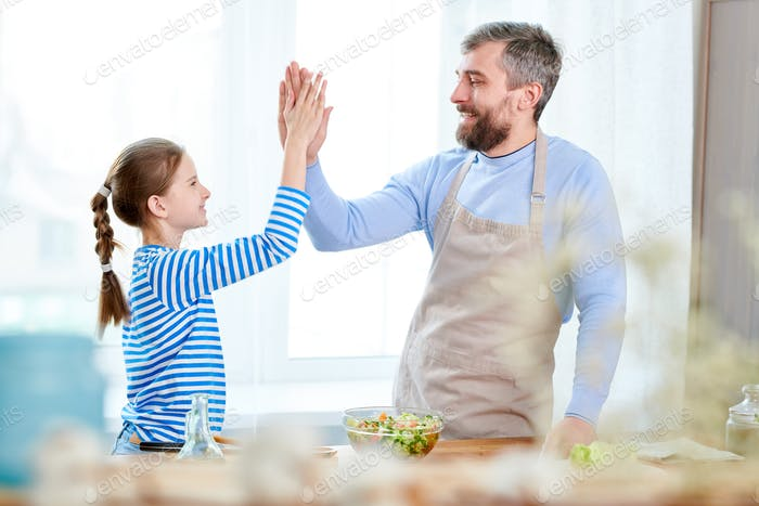 Father and Daughter Cooking