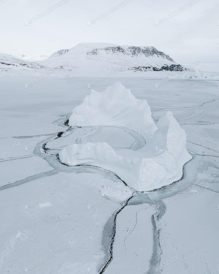 Iceberg in Disko Bay at Greenland