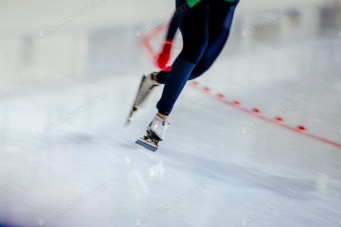woman legs athlete speed skater