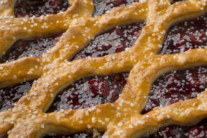Fresh baked Limburg cherry vlaai