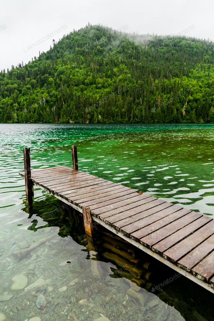 Long Dock and Amazing View of a Lake