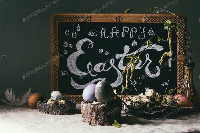 Easter holidays interior decorations
