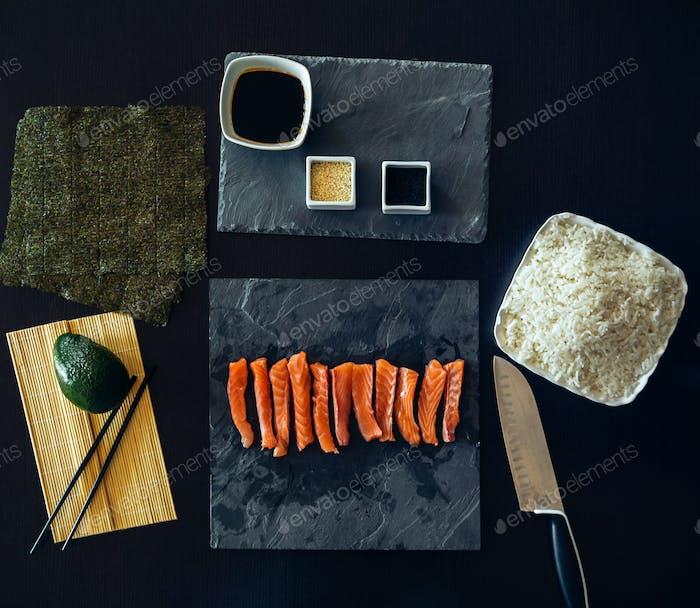 Preparing Ingredients On The Table