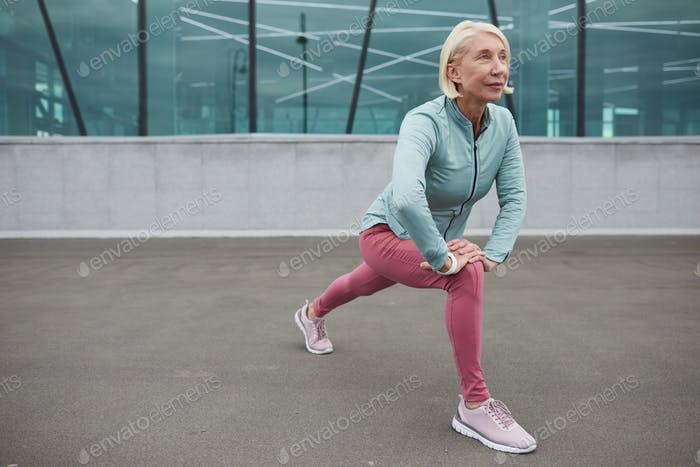 Stretching leg muscles