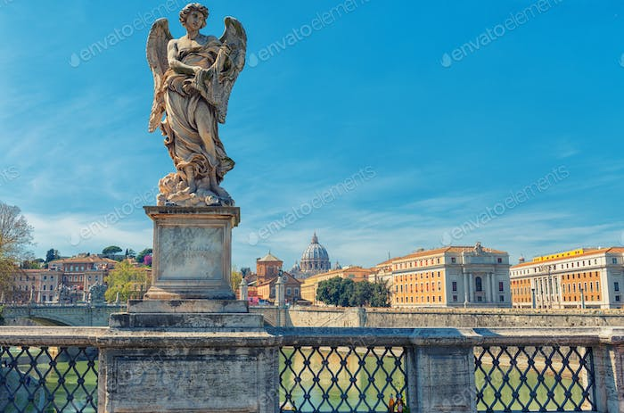 Angel bridge statue