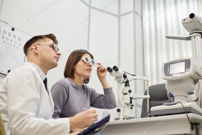 Ophthalmologist at Vision test