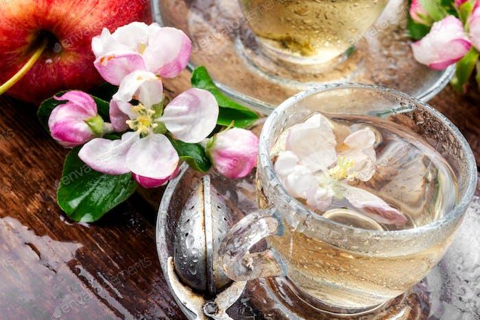 Drink of apple tea