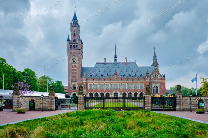The Peace Palace international law administrative building in The Hague, the Netherlands