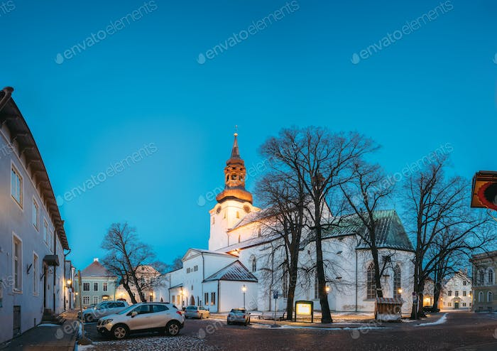 Tallinn, Estonia. Famous Landmark Cathedral Of Saint Mary The Vi