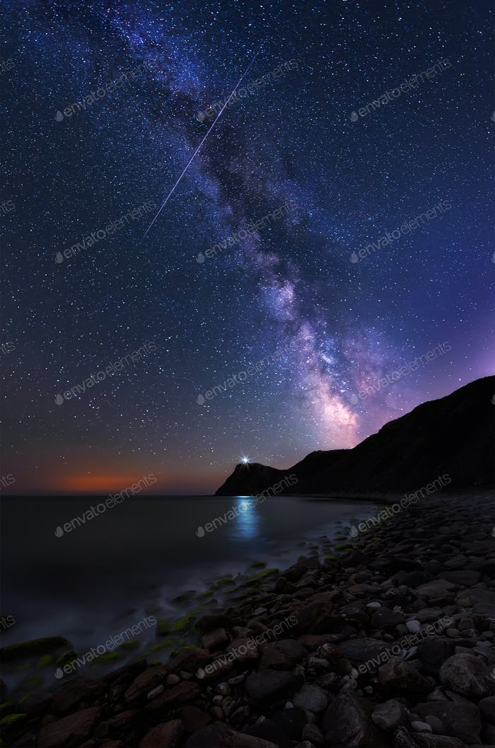 Milky Way over cape Emine, Bulgaria