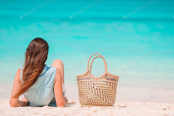 Young woman relax and enjoy vacation on the beach