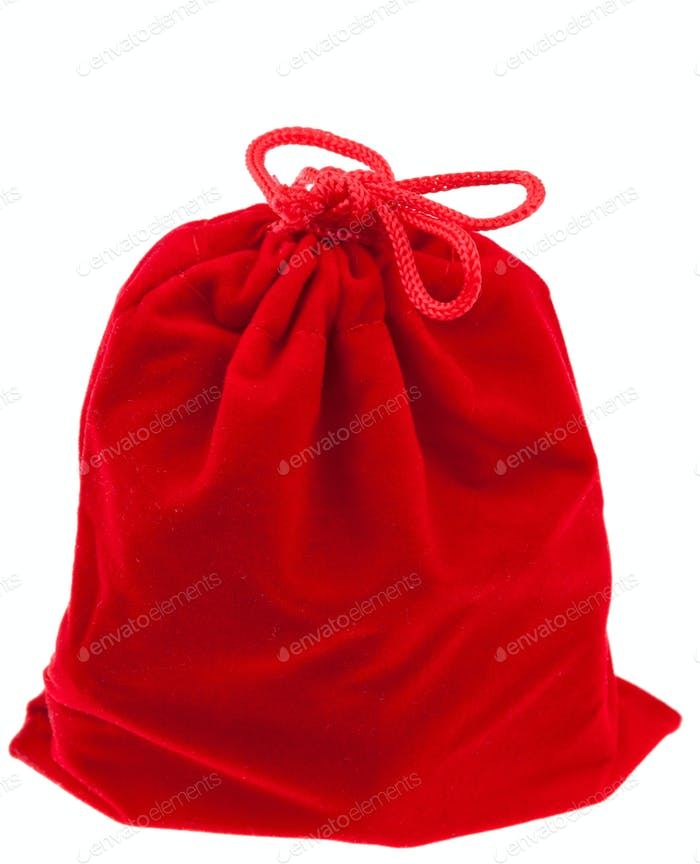 red gift textile bag