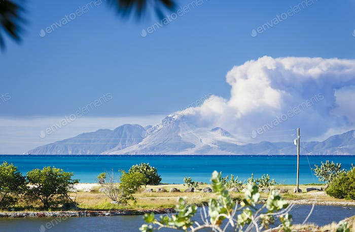 View To Montserrat With Caribbean Foreground, Antigua