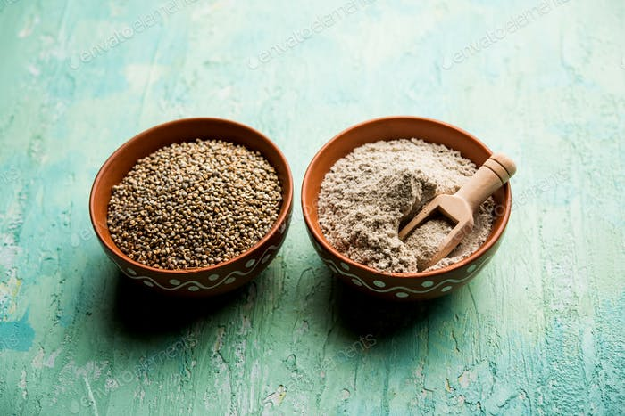 Bajra or pearl millet or sorghum grains and its powder
