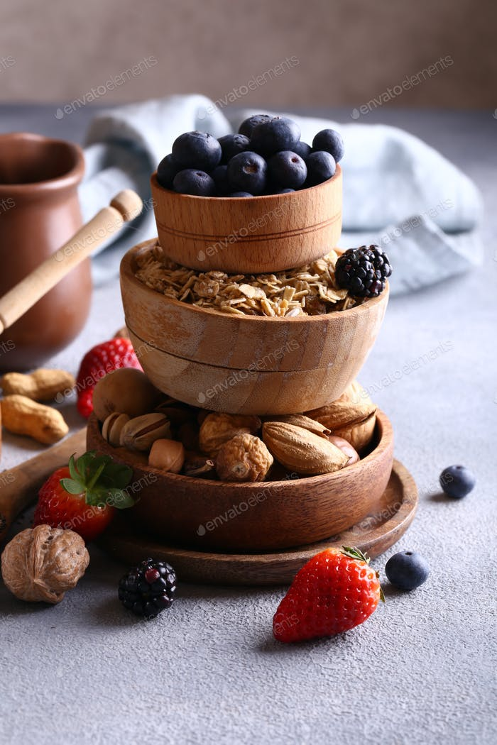 Homemade Granola with Berries and Nuts