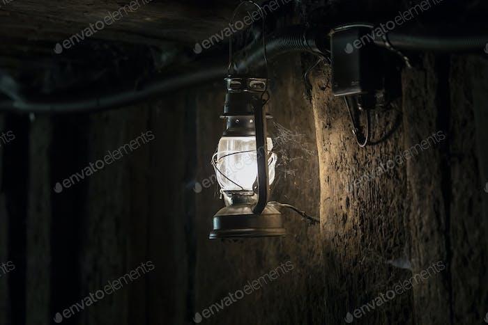 lamp in mine