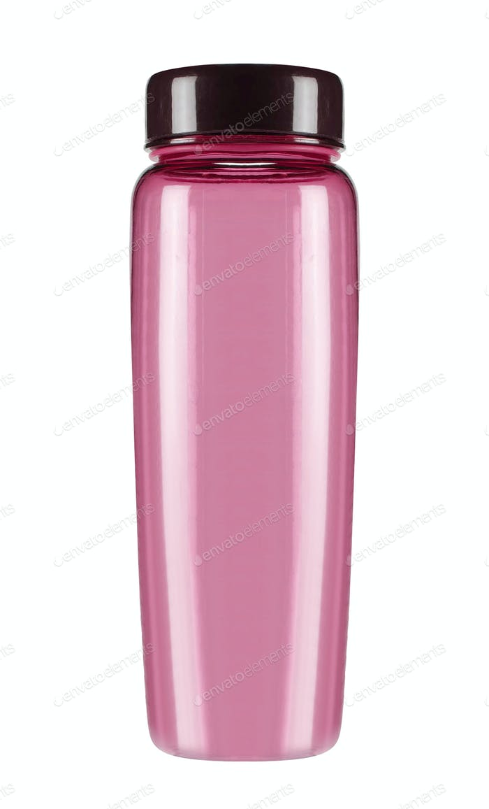 Water sport plastic pink bottle isolated