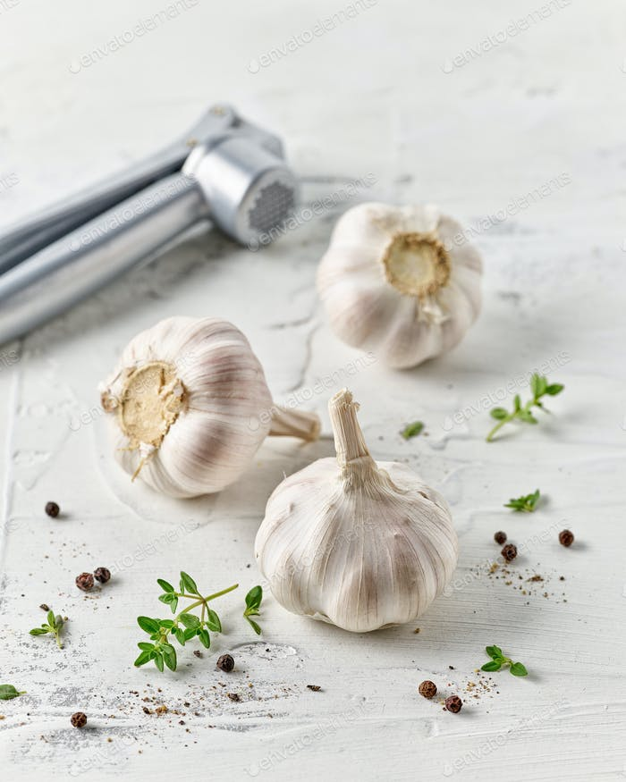 composition of garlic and spices